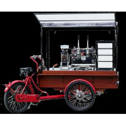Triporteur café taille XL ,machine deux groupes