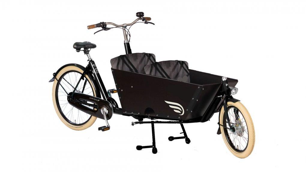 Biporteur Amsterdam Air transport enfant avec option selle cuir Brooks