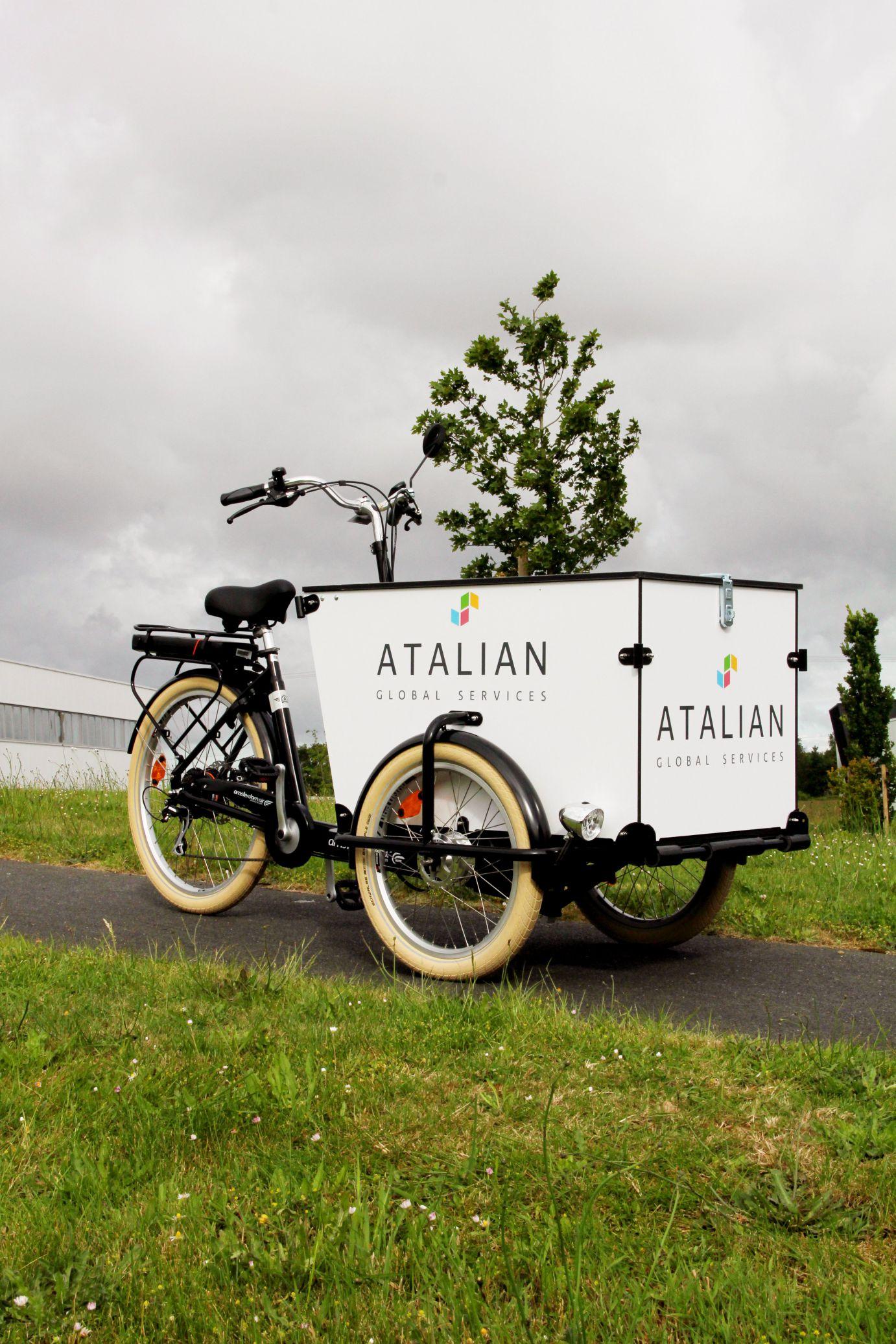 Atalian - Triporteur Livreur électrique Amsterdam Air Pro.